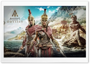 Assassins Creed Odyssey, Kassandra, Alexios HD Wide Wallpaper for 4K UHD Widescreen desktop & smartphone