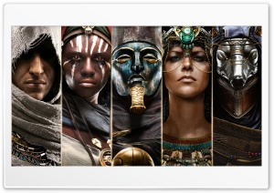 Assassins Creed Origins Characters Ultra HD Wallpaper for 4K UHD Widescreen desktop, tablet & smartphone