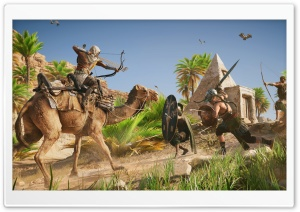 Assassins Creed Origins Game HD Wide Wallpaper for Widescreen