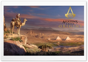 Assassins Creed Origins Game 2017 8K HD Wide Wallpaper for Widescreen