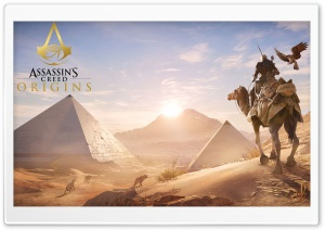Assassins Creed Origins Pyramids HD Wide Wallpaper for 4K UHD Widescreen desktop & smartphone