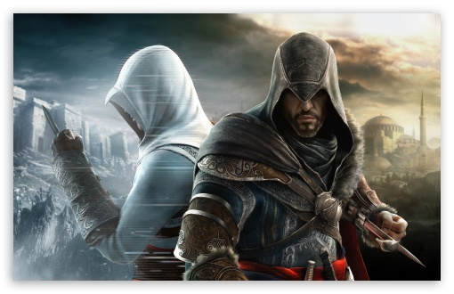 Assassin's Creed Revelations HD wallpaper for Standard 4:3 5:4 Fullscreen UXGA XGA SVGA QSXGA SXGA ; Wide 16:10 5:3 Widescreen WHXGA WQXGA WUXGA WXGA WGA ; HD 16:9 High Definition WQHD QWXGA 1080p 900p 720p QHD nHD ; Other 3:2 DVGA HVGA HQVGA devices ( Apple PowerBook G4 iPhone 4 3G 3GS iPod Touch ) ; Mobile VGA WVGA iPhone iPad PSP Phone - VGA QVGA Smartphone ( PocketPC GPS iPod Zune BlackBerry HTC Samsung LG Nokia Eten Asus ) WVGA WQVGA Smartphone ( HTC Samsung Sony Ericsson LG Vertu MIO ) HVGA Smartphone ( Apple iPhone iPod BlackBerry HTC Samsung Nokia ) Sony PSP Zune HD Zen ; Dual 4:3 5:4 16:10 5:3 16:9 3:2 UXGA XGA SVGA QSXGA SXGA WHXGA WQXGA WUXGA WXGA WGA WQHD QWXGA 1080p 900p 720p QHD nHD DVGA HVGA HQVGA devices ( Apple PowerBook G4 iPhone 4 3G 3GS iPod Touch ) ;