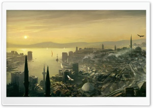 Assassin's Creed Revelations Constantinople Concept Art HD Wide Wallpaper for Widescreen