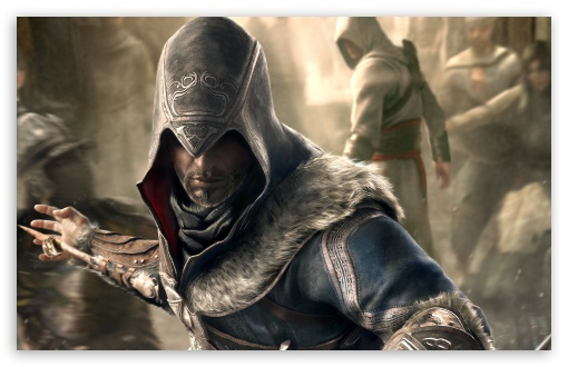 Assassin's Creed Revelations Master Assassins HD wallpaper for Wide 16:10 5:3 Widescreen WHXGA WQXGA WUXGA WXGA WGA ; HD 16:9 High Definition WQHD QWXGA 1080p 900p 720p QHD nHD ; Standard 3:2 Fullscreen DVGA HVGA HQVGA devices ( Apple PowerBook G4 iPhone 4 3G 3GS iPod Touch ) ; Mobile 5:3 3:2 16:9 - WGA DVGA HVGA HQVGA devices ( Apple PowerBook G4 iPhone 4 3G 3GS iPod Touch ) WQHD QWXGA 1080p 900p 720p QHD nHD ;