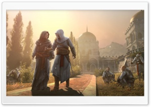 Assassin's Creed Revelations Masyaf Maria Thorpe and Altair HD Wide Wallpaper for 4K UHD Widescreen desktop & smartphone