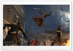 Assassins Creed Rogue Jump to Kill HD Wide Wallpaper for Widescreen