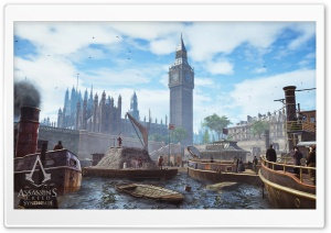 Assassins Creed Syndicate Environment Big Ben HD Wide Wallpaper for Widescreen