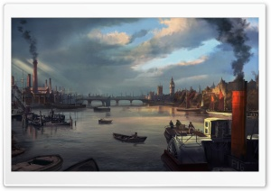 Assassins Creed Syndicate Thames River 1868 HD Wide Wallpaper for Widescreen