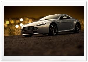 Aston Martin Bokeh Lights At Night HD Wide Wallpaper for Widescreen