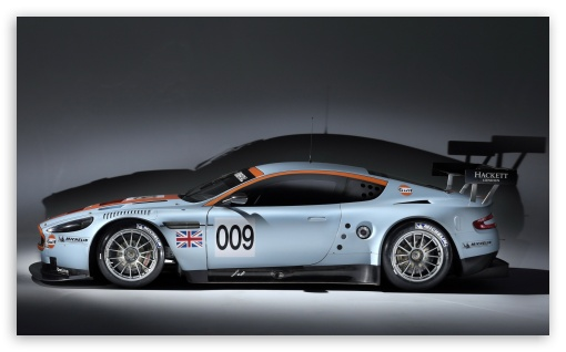 Aston Martin DBR9 Side View HD wallpaper for Wide 5:3 Widescreen WGA ; HD 16:9 High Definition WQHD QWXGA 1080p 900p 720p QHD nHD ; Mobile 5:3 16:9 - WGA WQHD QWXGA 1080p 900p 720p QHD nHD ;