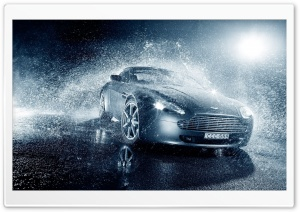 Aston Martin V8 Rain HD Wide Wallpaper for Widescreen