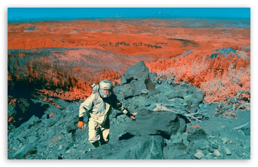 Astronaut Infrared Photography Ultra Hd Desktop Background Wallpaper For 4k Uhd Tv Widescreen Ultrawide Desktop Laptop Tablet Smartphone