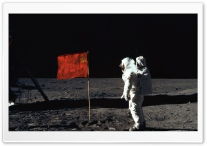 Astronaut On The Moon HD Wide Wallpaper for Widescreen