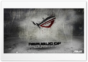 Asus Republic Of Gamers Background HD Wide Wallpaper for Widescreen