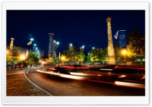 Atlanta At Night HD Wide Wallpaper for Widescreen