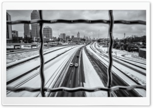 Atlanta Snow Day HD Wide Wallpaper for 4K UHD Widescreen desktop & smartphone