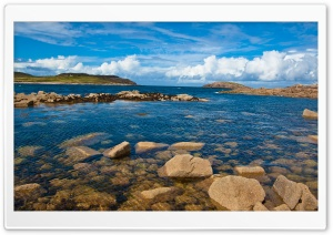 Atlantic Coast, Cruit Island, Donegal, Ireland HD Wide Wallpaper for Widescreen