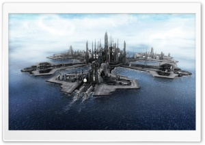 Atlantis City HD Wide Wallpaper for Widescreen