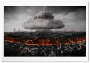 Atomic Explosion In The City - Atomnyy Vzryv V Megapolise HD Wide Wallpaper for 4K UHD Widescreen desktop & smartphone