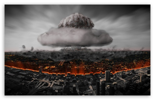 Atomic Explosion In The City - Atomnyy Vzryv V Megapolise ❤ 4K UHD Wallpaper for Wide 16:10 5:3 Widescreen WHXGA WQXGA WUXGA WXGA WGA ; 4K UHD 16:9 Ultra High Definition 2160p 1440p 1080p 900p 720p ; Mobile 5:3 16:9 - WGA 2160p 1440p 1080p 900p 720p ;