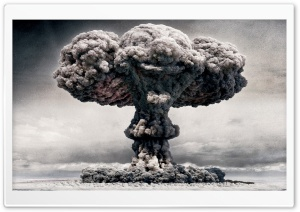 Atomic Mushroom Cloud HD Wide Wallpaper for Widescreen