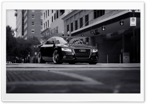 Audi A5 Black HD Wide Wallpaper for Widescreen