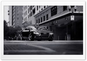 Audi A5 Black And White HD Wide Wallpaper for Widescreen