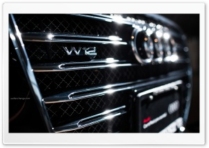 Audi A8 W12 Badge HD Wide Wallpaper for Widescreen