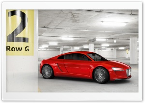 Audi E Tron   Parking Garage HD Wide Wallpaper for Widescreen
