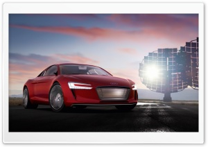Audi E Tron Electric Supercar HD Wide Wallpaper for Widescreen