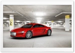 Audi E Tron Parking Garage HD Wide Wallpaper for 4K UHD Widescreen desktop & smartphone