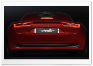 Audi E Tron Rear HD Wide Wallpaper for Widescreen