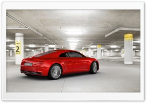 Audi E Tron Rear Side   Parking Garage HD Wide Wallpaper for Widescreen