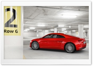 Audi E Tron Underground Parking Garage HD Wide Wallpaper for Widescreen