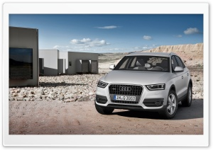 Audi Q3 Silver HD Wide Wallpaper for Widescreen