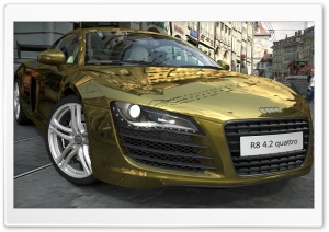 Audi R8 4.2 Quattro Gold HD Wide Wallpaper for 4K UHD Widescreen desktop & smartphone