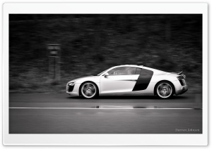 Audi R8 At Speed HD Wide Wallpaper for Widescreen