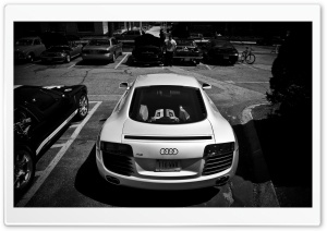 Audi R8 Rear HD Wide Wallpaper for Widescreen