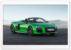 Audi R8 Spyder V10 Plus 2018 HD Wide Wallpaper for 4K UHD Widescreen desktop & smartphone