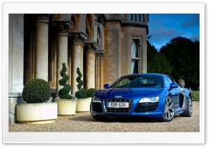 Audi R8 V10 Blue HD Wide Wallpaper for Widescreen