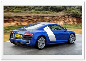 Audi R8 V10 Rear HD Wide Wallpaper for Widescreen