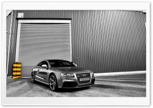 Audi RS5 Gray HD Wide Wallpaper for Widescreen