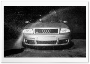 Audi RS6 getting a wash HD Wide Wallpaper for Widescreen