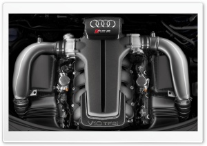 Audi RSS V10 TFSI Engine HD Wide Wallpaper for Widescreen