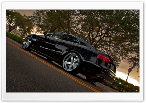 Audi S5 Black HD Wide Wallpaper for Widescreen