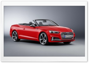 Audi S5 cabriolet 2017 HD Wide Wallpaper for 4K UHD Widescreen desktop & smartphone