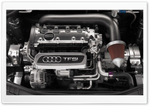 Audi TFSI Engine HD Wide Wallpaper for Widescreen