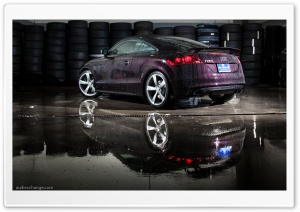 Audi TT-RS in Black Cherry Pearl Effect HD Wide Wallpaper for Widescreen