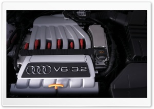 Audi V6 3.2 Engine HD Wide Wallpaper for Widescreen