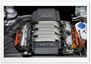 Audi V6 FSI Engine HD Wide Wallpaper for Widescreen